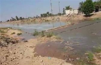 انهيار جسر محطة صرف صحي ببلانة بأسوان وغرق مساحات زراعية كبيرة |  صور