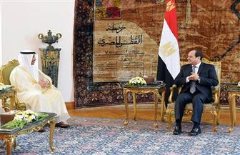 الرئيس السيسي يستقبل رئيس مجلس الأمة الكويتي