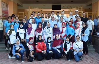 """رئيس جامعة سوهاج يدشن المبادرة الطلابية """"النظافة ثقافة""""   صور"""