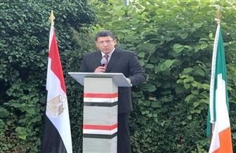 سفير مصر لدى أيرلندا يلتقي وزير الدولة الأيرلندي للتجارة والتوظيف