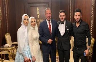 الخطيب ونجوم الكرة في حفل زفاف لاعب الكرة كريم نيدفيد|صور