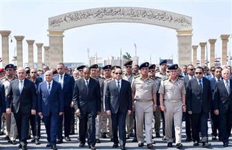 الرئيس السيسي يتقدم الجنازة العسكرية للفريق إبراهيم العرابي | صور وفيديو