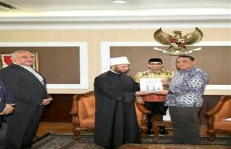 سفير مصر في جاكرتا يستقبل مستشار رئيس الجمهورية للشئون الدينية خلال زيارته إلى إندونيسيا| صور