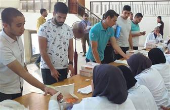 بدء الكشف الطبي الشامل على طلاب جامعة كفر الشيخ الجدد| صور