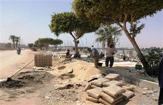 رئيس مدينة الأقصر: استكمال أعمال تطوير كورنيش النيل وإعداد خطة لتطوير شوارع مرحبا ومحمد فريد|صور