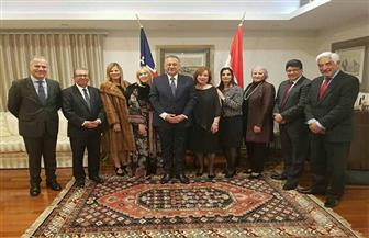 سفير مصر لدى إستراليا يقيم حفل استقبال بمناسبة انتهاء فترة خدمته |صور