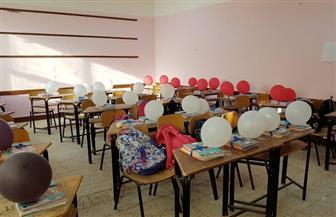 مدارس المنصورة تتزين لاستقبال العام الدراسي| صور