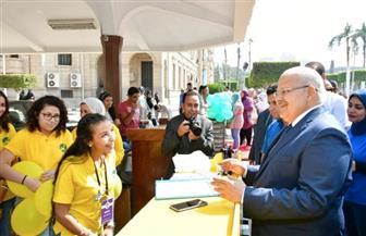 مهرجان بجامعة القاهرة لاستقبال الطلاب الجدد