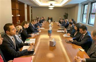 وزير الخارجية يلتقي البعثة المصرية الدائمة بالأمم المتحدة