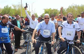 تنظيم ماراثون لسباق الدراجات الهوائية  بجامعة جنوب الوادي | صور
