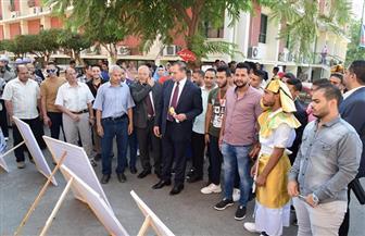 رئيس جامعة سوهاج يتفقد الأنشطة الطلابية واحتفالية كلية العلوم | صور