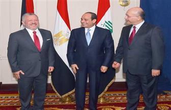 ننشر البيان الختامي الصادر عن القمة المصرية – الأردنية - العراقية  صور