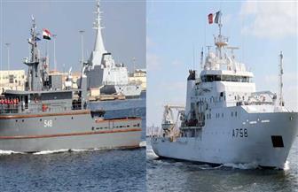 البحرية المصرية والفرنسية تنفذان تدريبا بحريا عابرا بالبحر المتوسط