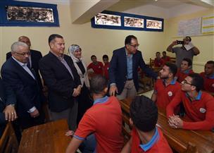 رئيس الوزراء يتفقد المدرسة الثانوية الفنية لمياه الشرب والصرف الصحي ببني سويف