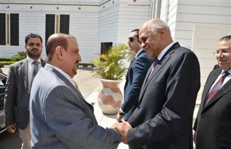 على عبد العال يستقبل رئيس مجلس النواب اليمني | صور
