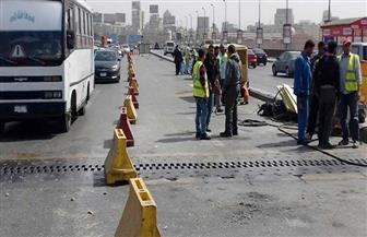 إصلاح وتجديد فواصل كوبرى 6 أكتوبر أعلى غمرة فى اتجاه مدينة نصر