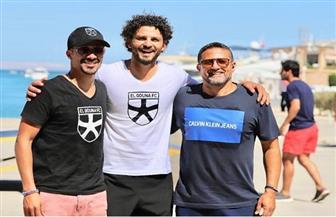 حسام غالي برفقة أحمد داود في الجونة
