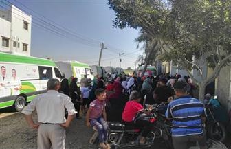 الكشف الطبي على 2100 في قرية أم الرزق بدمياط | صور