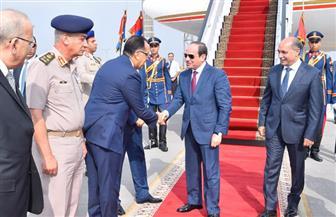 رئيسا الوزراء والبرلمان ووزيرا الدفاع والداخلية يستقبلون الرئيس السيسي لدى عودته لأرض الوطن|صور