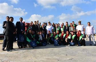 طلاب جامعة القاهرة في زيارة للكلية البحرية