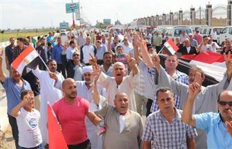 آلاف من أهالي كفرالشيخ يخرجون في مسيرات مؤيدة للرئيس ودعما لاستقرار البلاد | صور