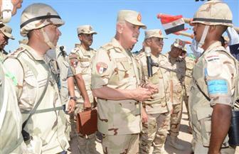 رئيس أركان حرب القوات المسلحة يشهد إجراءات التفتيش لوحدة عسكرية بالمنطقة الجنوبية | صور