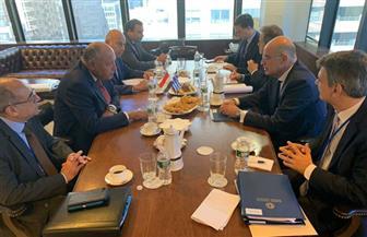 سامح شكري يناقش العلاقات الثنائية والقضايا المشتركة مع نظيره اليوناني