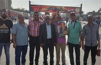 """العاملون بـ""""البناء واﻷخشاب"""" يجددون العهد مع الرئيس السيسي والقوات المسلحة لمواجهة اﻹرهاب والفوضى  صور"""
