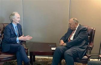 وزير الخارجية يبحث مستجدات الوضع على الساحة السورية مع المبعوث الأممي