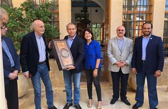 وليد جنبلاط يقيم حفل غداء في المختارة تكريما لسفير مصر| صور