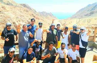 وفد قيادات الشباب السعودي يزور أبرز المعالم السياحية بمدينة دهب | صور