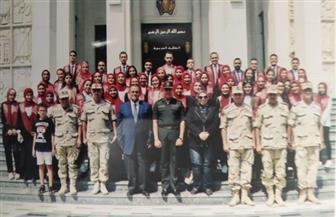 وفد طلاب جامعة عين شمس في زيارة ميدانية للكلية الحربية |صور
