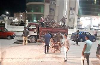 جهاز مدينة دمياط الجديدة يشن حملة ليلية لإزالة الإشغالات والتعديات بالمدينة