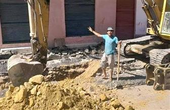 استمرار أعمال إحلال وتجديد شبكة مياه الشرب والصرف بمنطقة العرب بالغردقة | صور