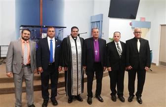 أندريه زكي يشارك في احتفالية رسامة شيوخ وشمامسة جدد بالكنيسة الإنجيلية العربية بنيو جيرسي | صور