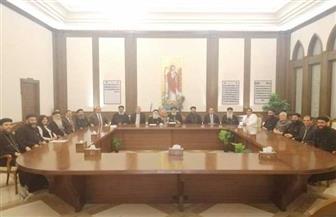 البابا تواضروس يستقبل كهنة ومجلس كنيسة السيدة العذراء بالزيتون