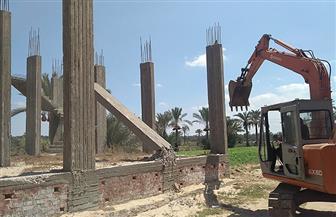 إزالة 13 حالة تعد في قرية الرياض بدمياط | صور