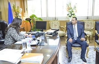 محافظ دمياط تستقبل رئيس الوحدة المحلية لمدينة عزبة البرج الجديد| صور
