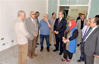 رئيس جامعة المنصورة يتفقد أعمال إنشاء مركز خدمة الأشخاص ذوي القدرات الخاصة