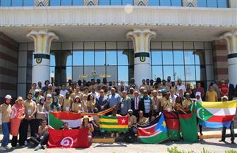 """شباب """"فعاليات أوسكار الإبداع الإفريقي"""" في زيارة لمحافظة الفيوم"""