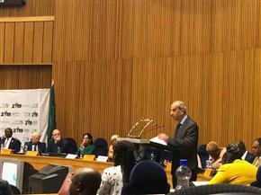 مندوب مصر بالاتحاد الإفريقي يلقي كلمة بمنتدى الشبكة الإفريقية للمؤسسات الوطنية لحقوق الإنسان