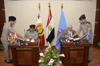 كلية الطب بالقوات المسلحة توقع بروتوكلات تعاون مع الجامعتين البريطانية والمصرية الروسية| صور