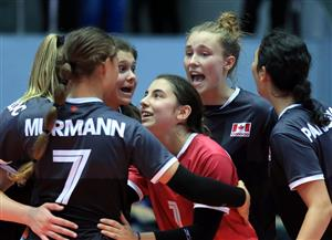 كندا تهزم كوريا الجنوبية 3 / 1 في انطلاق بطولة العالم لناشئات الكرة الطائرة