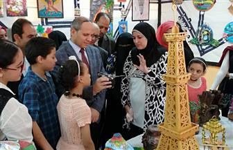 افتتاح معرض تنمية القدرات والمبدعين بإدارة شرق الفيوم | صور