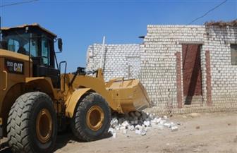 حملة مكبرة تزيل 14 منزلا مخالفا على أراضي أملاك دولة بالفيوم |صور