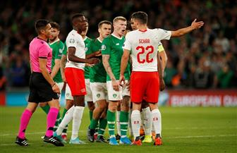 """إيرلندا تتعادل مع سويسرا والدانمارك تكتسح جبل طارق في تصفيات """"يورو 2020"""""""
