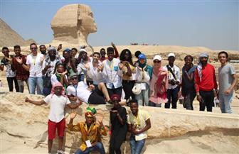 """""""أبو الهول"""" يصطحب المشاركين في أوسكار الإبداع الإفريقي برحلة للعصور المصرية القديمة"""