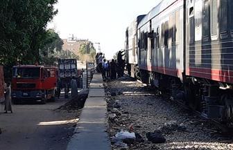 السيطرة على أدخنة خرجت  من جرار قطار بأسوان