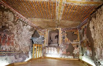 الاحتفال بانتهاء أعمال ترميم مقبرتين بذراع أبو النجا بالأقصر| صور