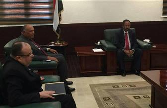 شكري يؤكد لرئيس وزراء السودان حرص مصر على دعم الخرطوم في المرحلة الانتقالية  صور